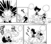 Xixi agafa cua Goku
