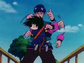Drac Celeste ataca Goku