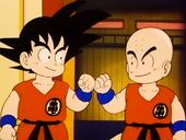 Salutació Goku i Krilin