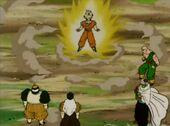 Goku superguerrer amb Androides