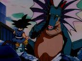 Goku vs Naturon amb Pan absorvida