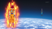 Goku i Bills a l'espai