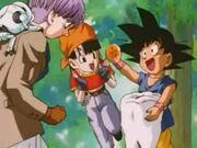 Goku troba bola 4 estrella negra