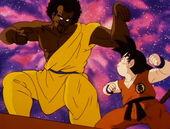 Goku i Chappa a punt de lluitar