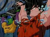 Goku i Cor Petit salven bus