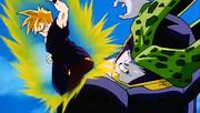 Gohan ataca Cèl·lula