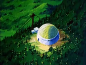 Vista aèria cúpula protectora