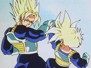 Goku i Gohan entrenen a Sala