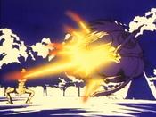 Dodonpa de Tao toca Goku