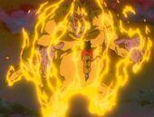Vegeta Ozaru Daurat davant Goku SG4
