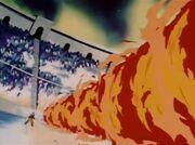 Tro de foc contra Goku