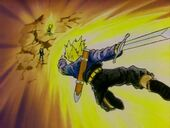 Trunks salva Vegeta