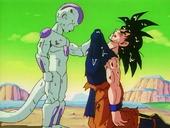Freezer amb Goku derrotat