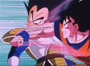 Goku atac Kaito ataca Vegeta
