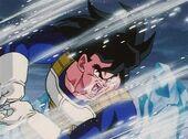 Goku entrenant a Sala Esperit Temps