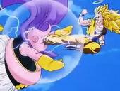 Goku SG3 puntada a Buu