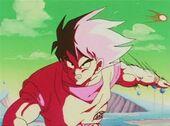 Goku desvia atac Jeice