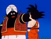 Popo cop de puny a Goku