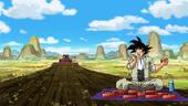 Goku menjar Goten tractor