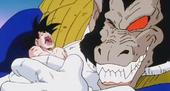 Vegeta Ozaru aprentant Goku