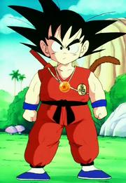 Goku trobada amb Yajirobai