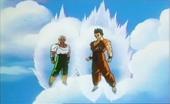 Yamcha i Ten Shin Han esperant Saga Jocs