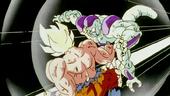 Cop de Puny Goku a Freezer