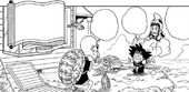 Goku i Xixi arriben a Kame House