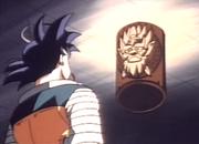 Goku parlant pedra