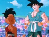 Goku i Uub parlant