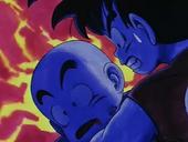 Goku amb Krilin mort