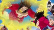 Broly SGL vs Goku, Vegeta, Paikuhan i herois