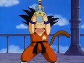 Goku amb aigua sagrada