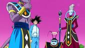 Bills, Whis, Goku i Kaito