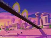 Goku i Vegeta a punt de lluitar GT