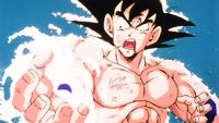 Goku Bola Genki contra Vegeta
