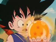 Goku amb bola 3 estrelles