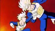 Goku i Gohan entrenant