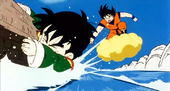 Goku intenta salvar Gohan