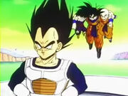 Entrant a la nau amb Goku