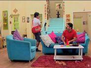Avtaar and Rohan in living room