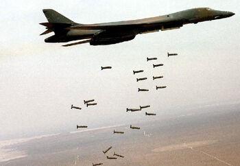 AIR B-1B Dropping WCMDs lg