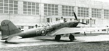 Battle Bomber K7602 of 52 Squadron