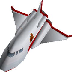 Bomberman's ship - rendered from <i>The Second Attack!</i>