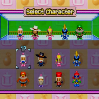Normal Level selection from <i>Bomberman Party Edition</i>