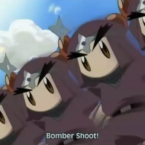 Ninja Bomber using his clone ability