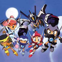 Bomberman B-Daman Bakugaiden protagonists in armor