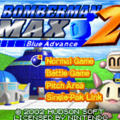 Pommy from Bomberman Max 2: Blue Advance title screen