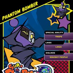 Phantom Bomber's <i>Super Bomberman R</i> Profile Card