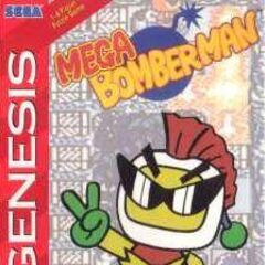 North American Box Art for Mega Bomberman.